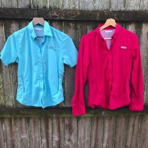 Lot Of 2 Columbia PFG XS Button Down Shirts Omni
